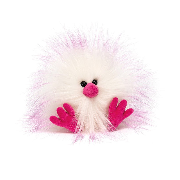 Crazy Chick Pink & White chicken soft toy  - Jellycat