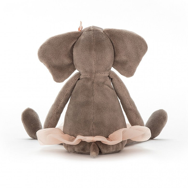 Dancing Darcey Elephant plush toy - sitting