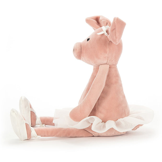 Dancing Darcey Piglet soft toy - Jellycat - side
