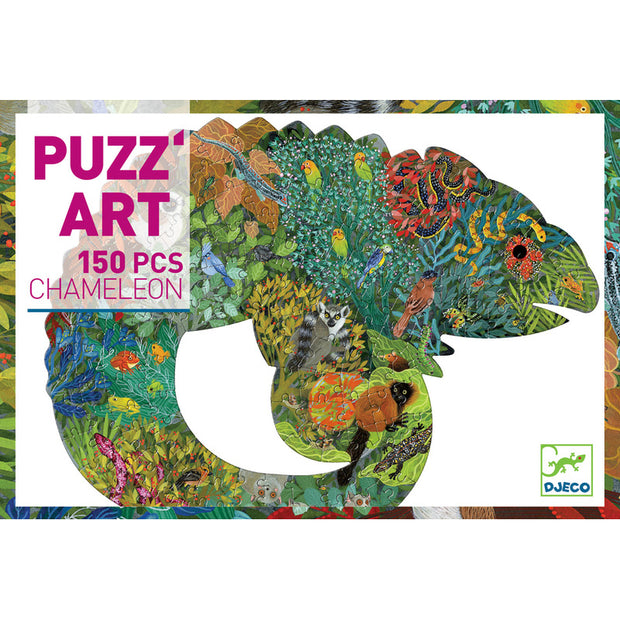 Retail box - Chameleon Art Puzzle by Djeco (150 Pce)