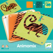 Kids Animomix stencil art set - Djeco
