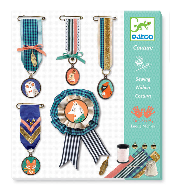 Embroidered Brooches Needlework Kit - DJ9846