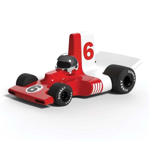 Playforever - Verve Velocita Jean - red and white toy car with number 6