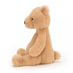 Puffles Bear by Jellycat - side view
