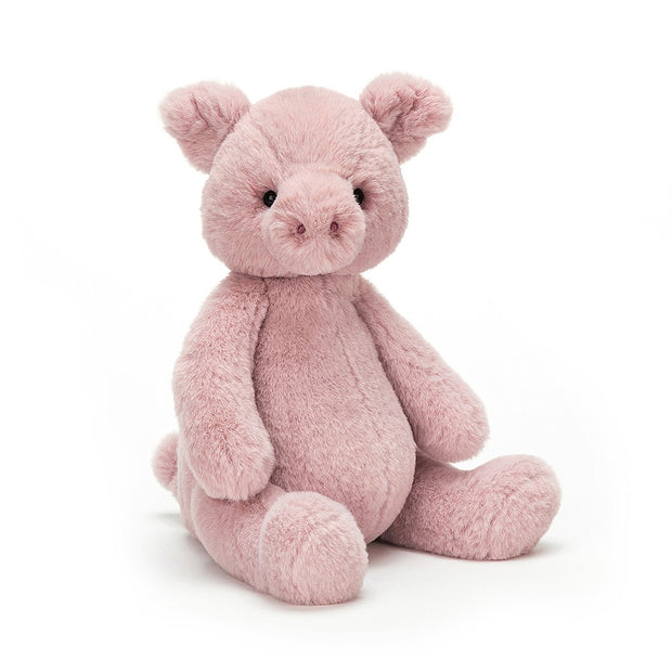 Pink Puffles Pig soft toy by Jellycat