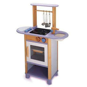 Pintoy Lilac Wooden Kitchen | Oven - Send A Toy