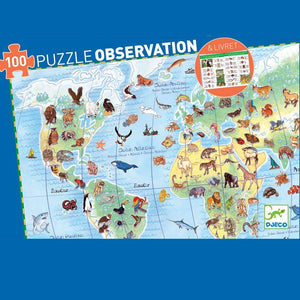 Observation Puzzle -Animals (with Poster + Book) - Send A Toy