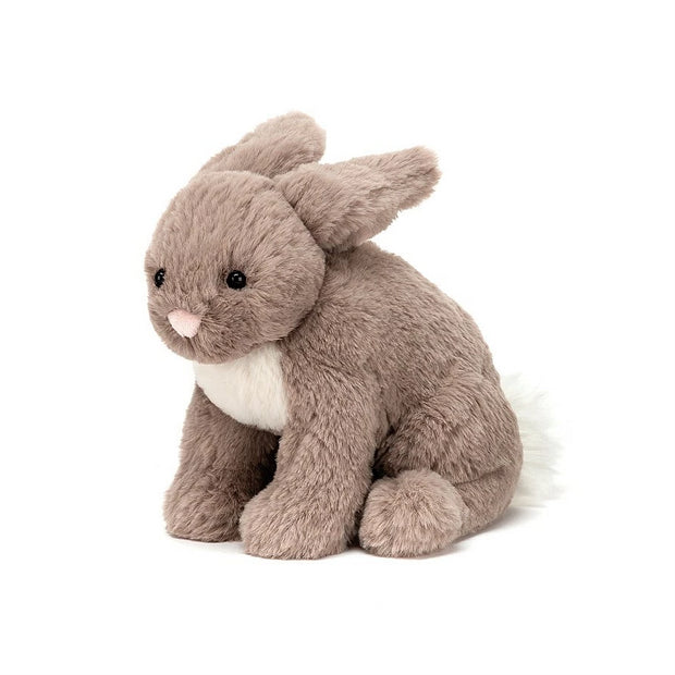 Jellycat beige rabbit with white tummy and bobtail