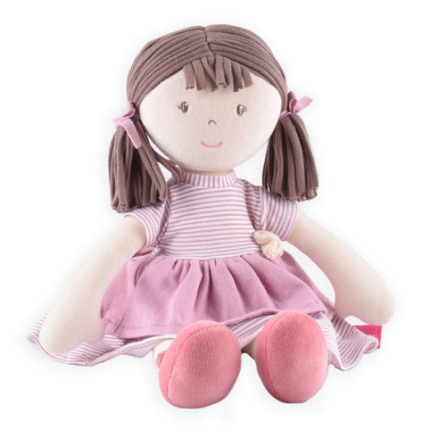 Brook Cotton Rag Doll with Brown Hair - SKU DSL1803