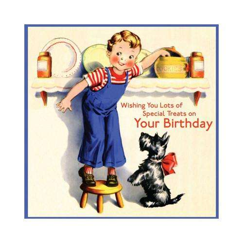 Special Treats! Birthday Card (blank inside) - Send A Toy