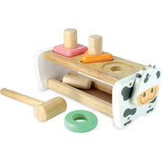 Cow Wooden Hammer Bench + Shape Sorter Toy