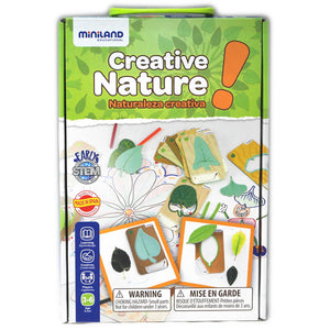 Retail packaging for Creative Nature game by Miniland