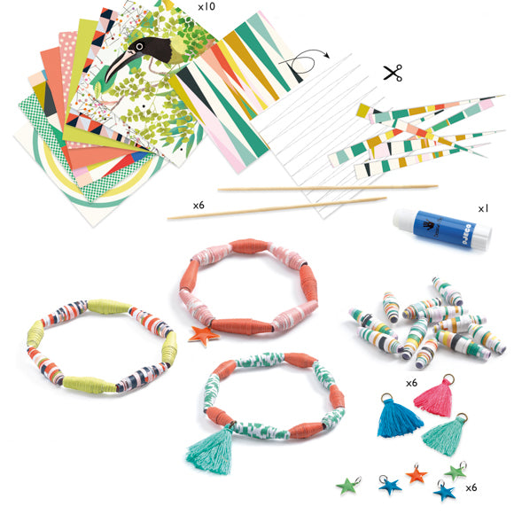 Djeco Paper Beads bracelet making kit - DJ9404