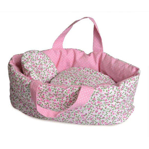Doll Carry Cot - Flowers (Reversible) - Send A Toy
