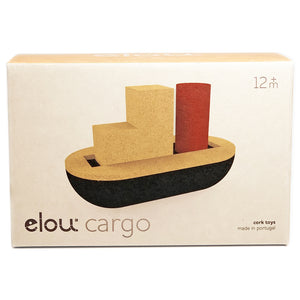 Elou Cargo Boat retail packaging - Send A Toy