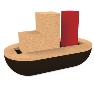 Elou cork Cargo Boat bath toy
