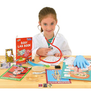 Young girl playing with Body Lab Experiment Kit by GALT