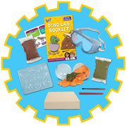 Dinosaur lab experiment kit by Galt - contents