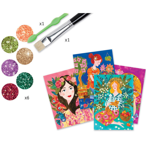 Glitter Boards Craft Kit - Contents - Scent of Flowers