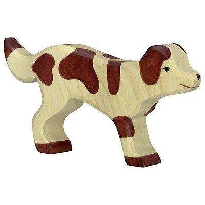 Holztiger Brown Farm Dog Standing (80058) - Send A Toy