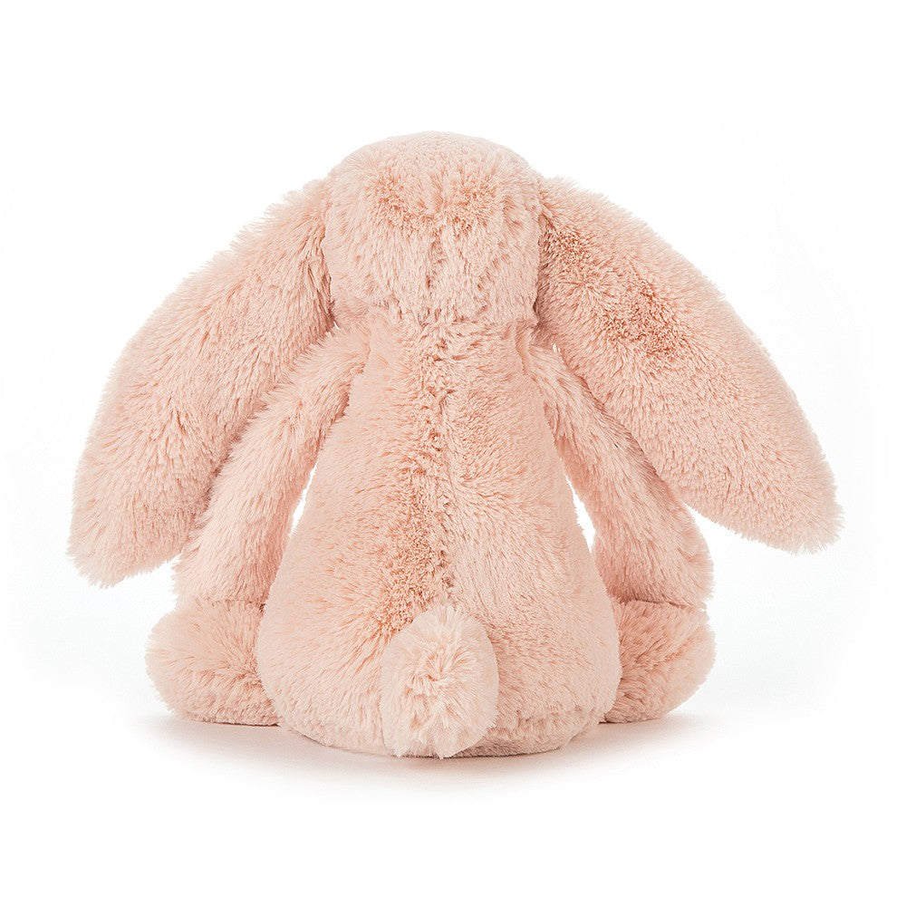 Rear view of Jellycat bashful blush bunny small