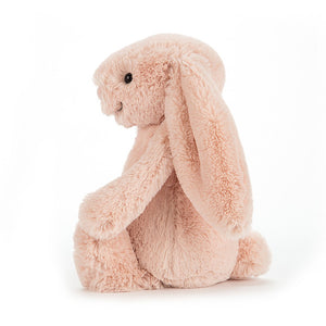 Side view of Jellycat bashful blush bunny small