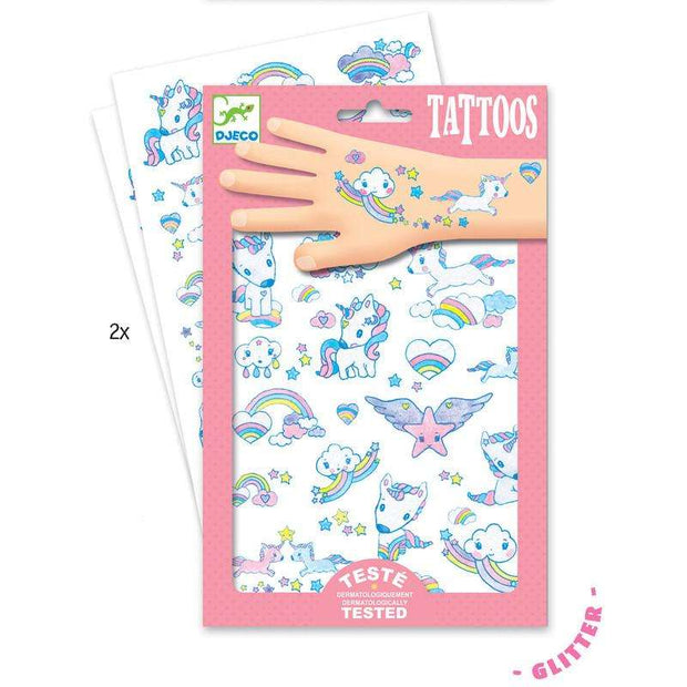 Glitter Unicorn Tattoos - Send A Toy