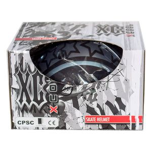 Kidzamo black with stars safety helment in retail box
