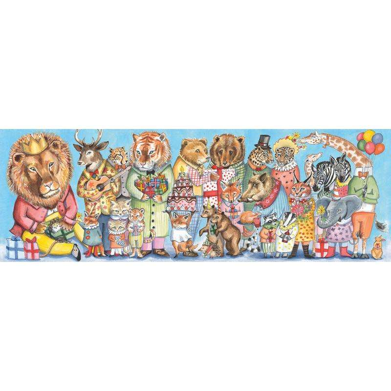 Kings Party Puzzle + Poster (100-Piece) - Send A Toy