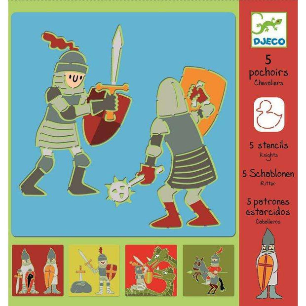 Knights Stencil Set (Djeco) - Send A Toy