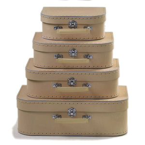 Kraft Brown Nesting Suitcase - set of four (mini small medium and large)