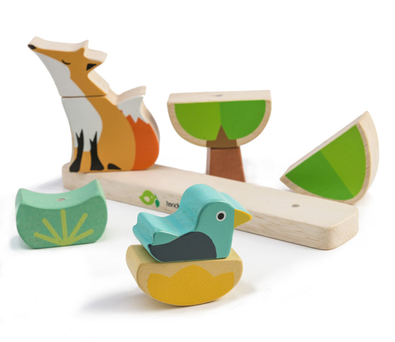 Wooden fox staker puzzle toy by Tenderleaf - Send A Toy