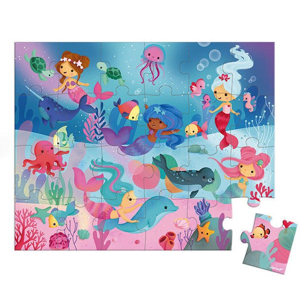 Mermaid Suitcase Puzzle (24-piece)