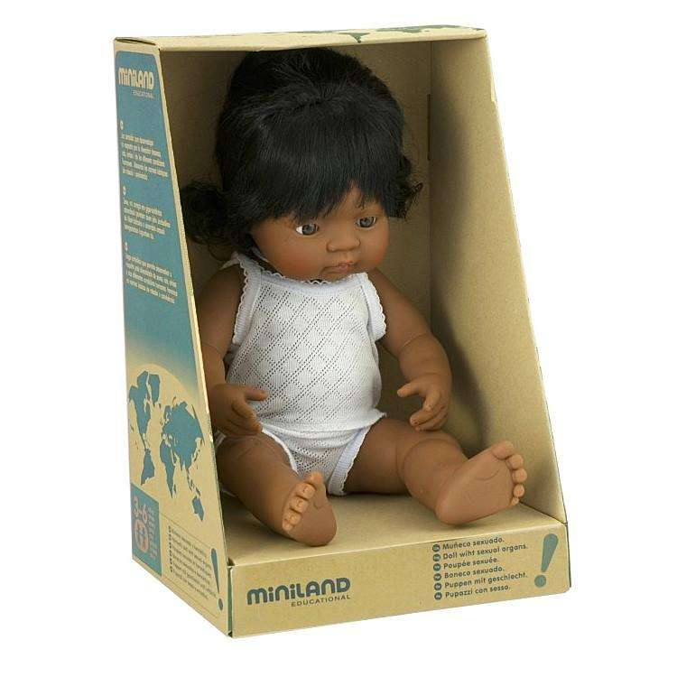 Miniland Baby Girl Hispanic 38cm - Send A Toy