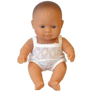 Miniland Baby Boy Caucasian Doll 21cm - Send A Toy