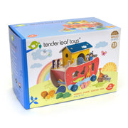 Tender Leaf Noah's Ark wooden shape sorter toy retail box