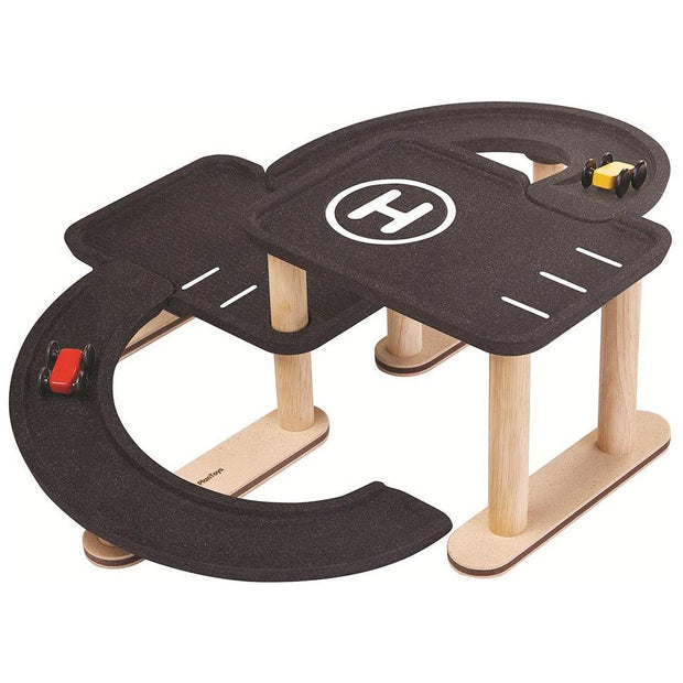 Race and Play wooden garage - Plan Toys