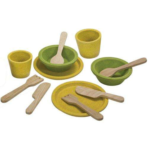 Tableware Set by Plan Toys (12-piece) - Send A Toy