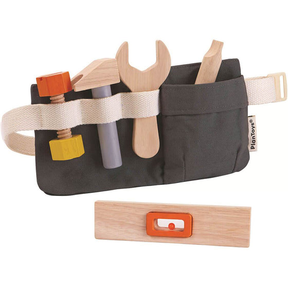 Wooden tool set with canvas tool belt - Plan Toys 3485