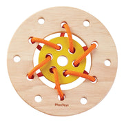 Wooden lacing ring toy - Plan Toys 5373