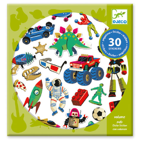 Puffy Stickers - Retro Toys