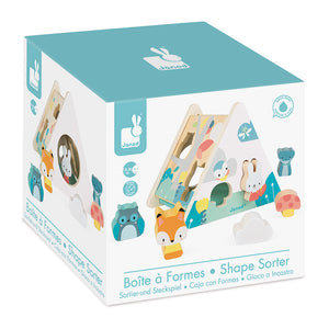 Retail box for Janod Pure Wooden Shape Sorter