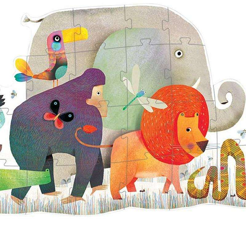 27db4f168a2c Giant Animal Parade Puzzle (Djeco) - Send A Toy