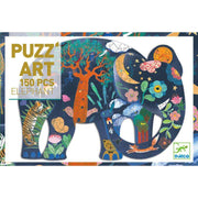 Elephant Puzzle Art by Djeco - 150-Piece - Send A Toy