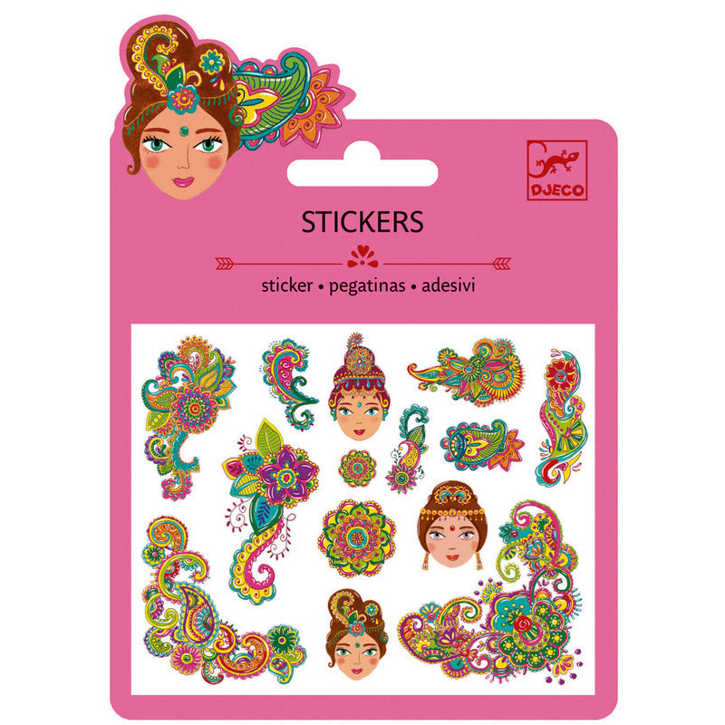 Stunning glitter embellished India themed stickers - Send A Toy