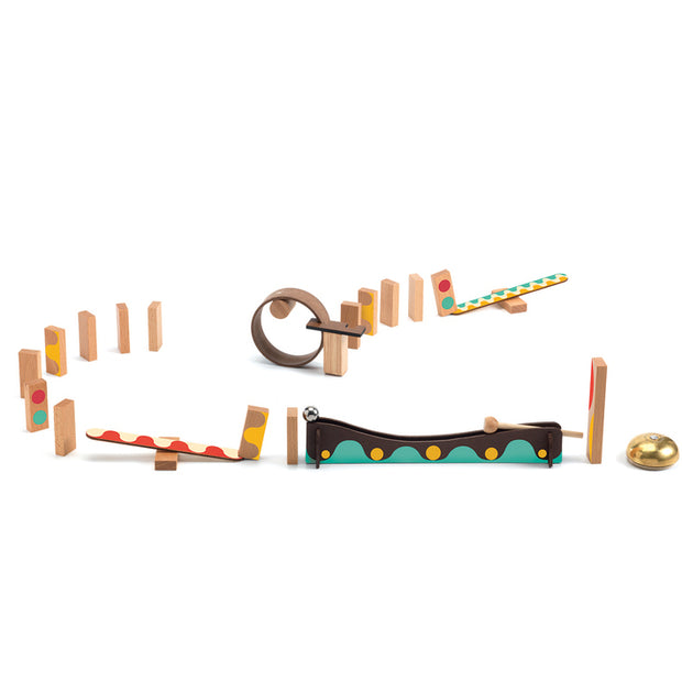 Zig and Go Action Reaction wooden ball track