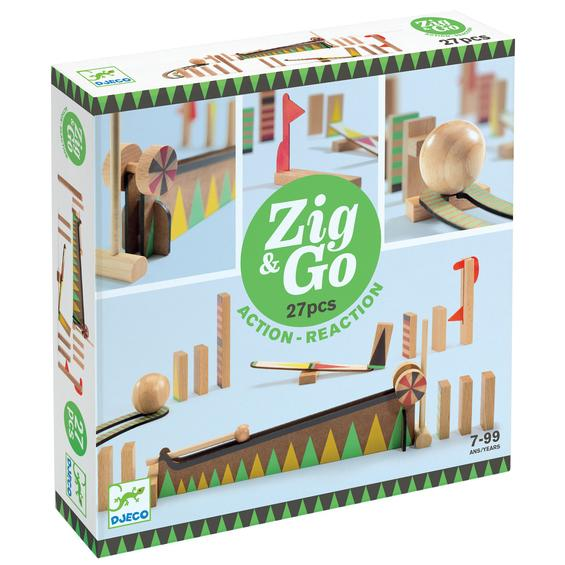 Zig and Go wooden action and reaction set - 27 pcs - retail box