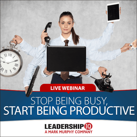 Live Webinar: Stop Being Busy, Start Being Productive [JUNE 11TH]