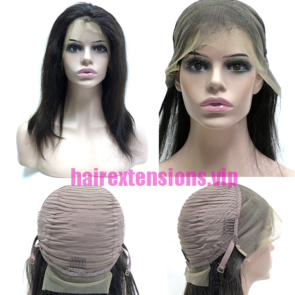 "26""  lace frontal wig straight with high density - video show"