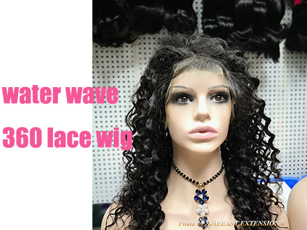 "water wave 360 lace wig 18"" wig length - video show"